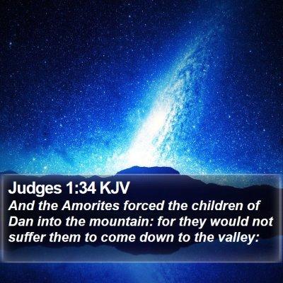 Judges 1:34 KJV Bible Verse Image
