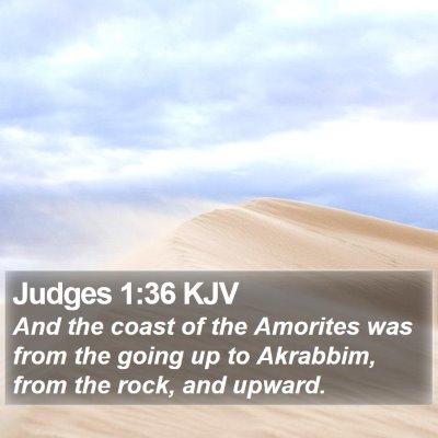 Judges 1:36 KJV Bible Verse Image