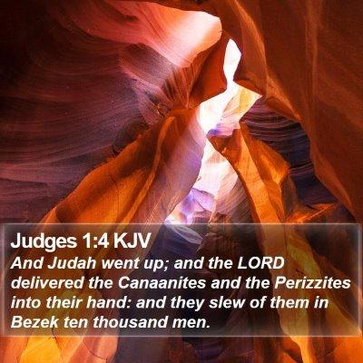 Judges 1:4 KJV Bible Verse Image