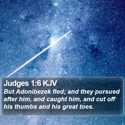 Judges 1:6 KJV Bible Verse Image