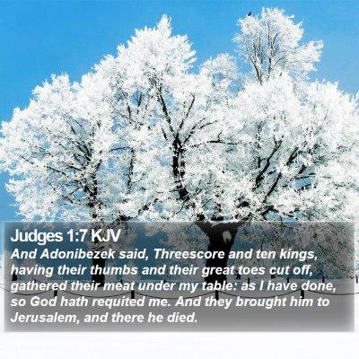 Judges 1:7 KJV Bible Verse Image
