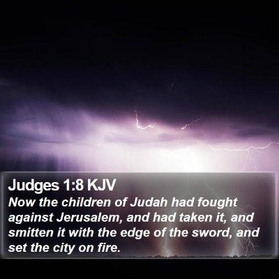 Judges 1:8 KJV Bible Verse Image