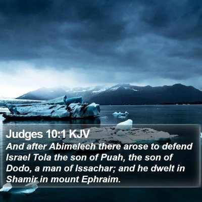 Judges 10:1 KJV Bible Verse Image