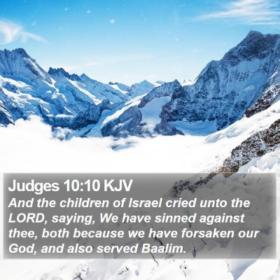 Judges 10:10 KJV Bible Verse Image