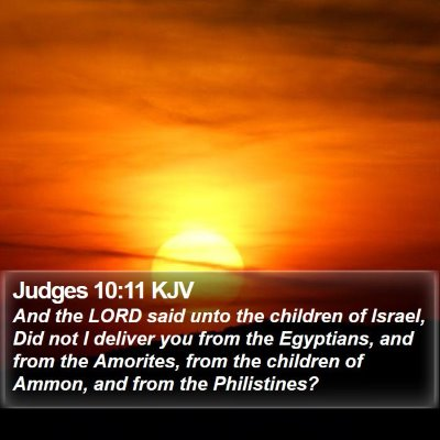 Judges 10:11 KJV Bible Verse Image