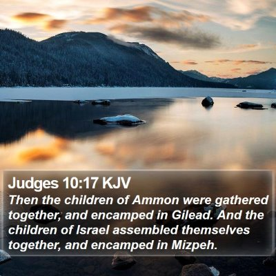 Judges 10:17 KJV Bible Verse Image