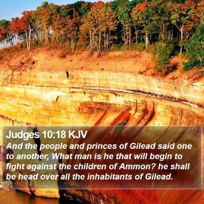 Judges 10:18 KJV Bible Verse Image