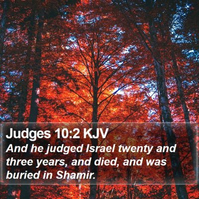 Judges 10:2 KJV Bible Verse Image