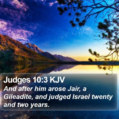 Judges 10:3 KJV Bible Verse Image