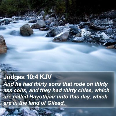 Judges 10:4 KJV Bible Verse Image