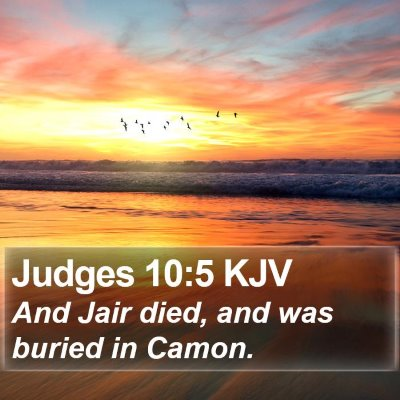 Judges 10:5 KJV Bible Verse Image