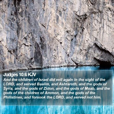 Judges 10:6 KJV Bible Verse Image