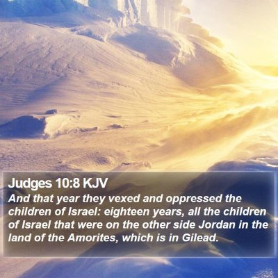 Judges 10:8 KJV Bible Verse Image