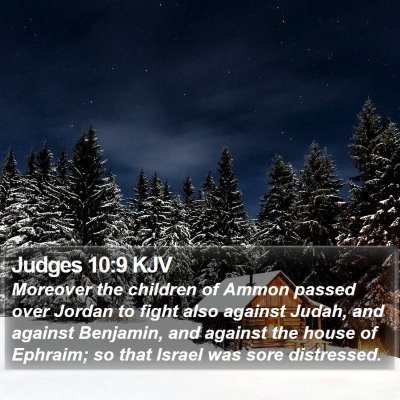 Judges 10:9 KJV Bible Verse Image