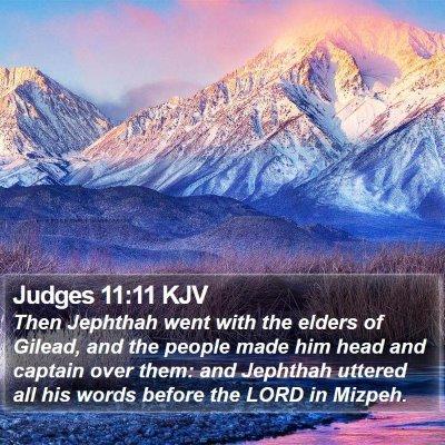 Judges 11:11 KJV Bible Verse Image