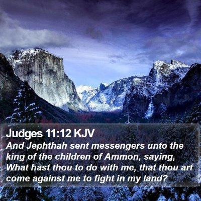 Judges 11:12 KJV Bible Verse Image