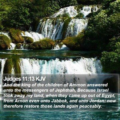 Judges 11:13 KJV Bible Verse Image