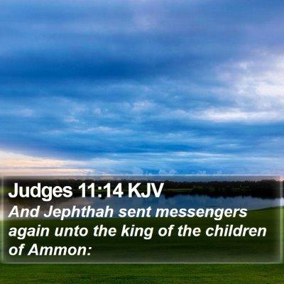 Judges 11:14 KJV Bible Verse Image