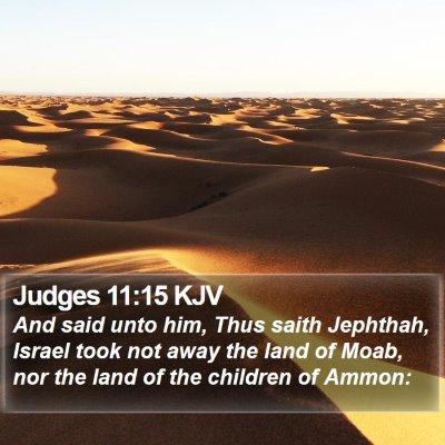 Judges 11:15 KJV Bible Verse Image