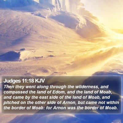 Judges 11:18 KJV Bible Verse Image