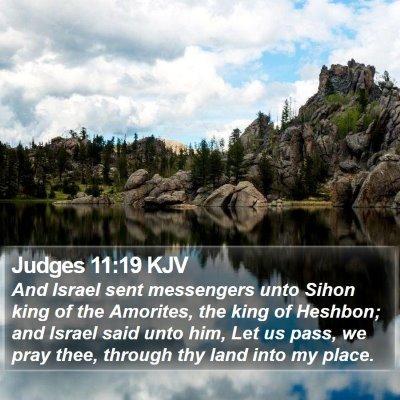Judges 11:19 KJV Bible Verse Image