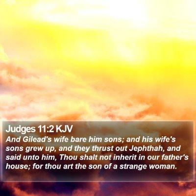 Judges 11:2 KJV Bible Verse Image