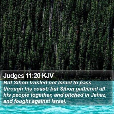 Judges 11:20 KJV Bible Verse Image