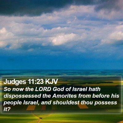 Judges 11:23 KJV Bible Verse Image