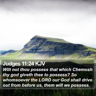Judges 11:24 KJV Bible Verse Image