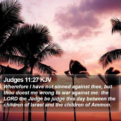 Judges 11:27 KJV Bible Verse Image