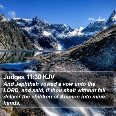 Judges 11:30 KJV Bible Verse Image