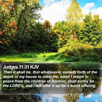Judges 11:31 KJV Bible Verse Image