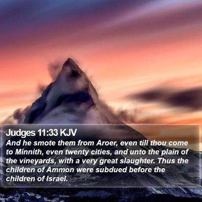 Judges 11:33 KJV Bible Verse Image