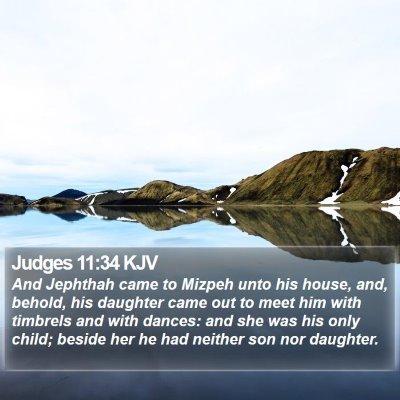 Judges 11:34 KJV Bible Verse Image