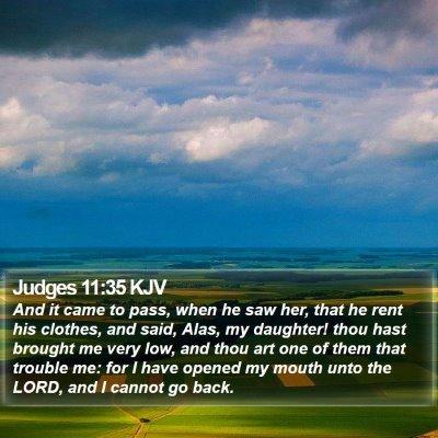 Judges 11:35 KJV Bible Verse Image