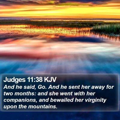 Judges 11:38 KJV Bible Verse Image