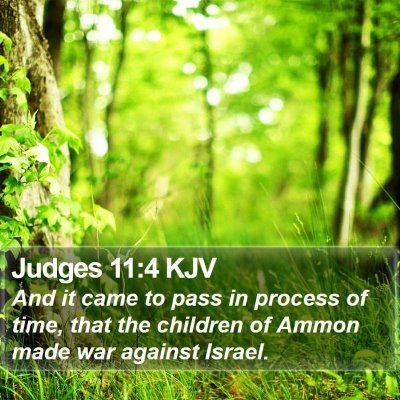 Judges 11:4 KJV Bible Verse Image