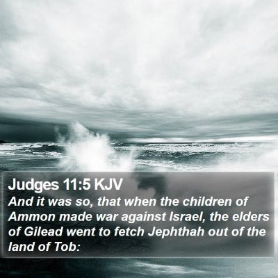 Judges 11:5 KJV Bible Verse Image