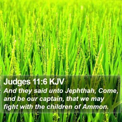 Judges 11:6 KJV Bible Verse Image