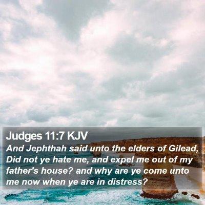 Judges 11:7 KJV Bible Verse Image