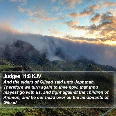 Judges 11:8 KJV Bible Verse Image