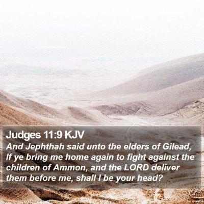 Judges 11:9 KJV Bible Verse Image