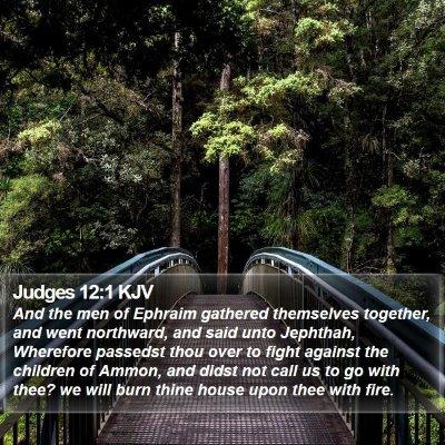 Judges 12:1 KJV Bible Verse Image