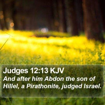 Judges 12:13 KJV Bible Verse Image