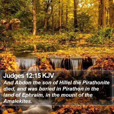 Judges 12:15 KJV Bible Verse Image