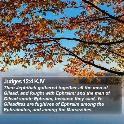 Judges 12:4 KJV Bible Verse Image