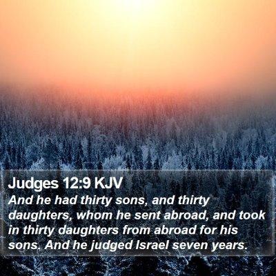 Judges 12:9 KJV Bible Verse Image