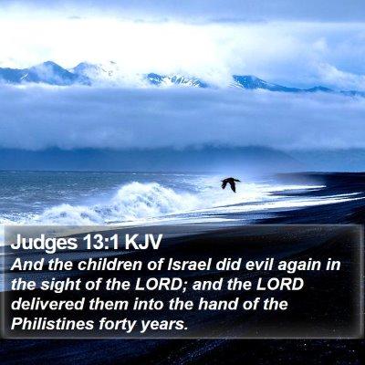 Judges 13:1 KJV Bible Verse Image