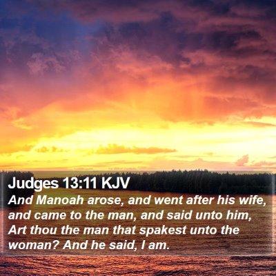 Judges 13:11 KJV Bible Verse Image
