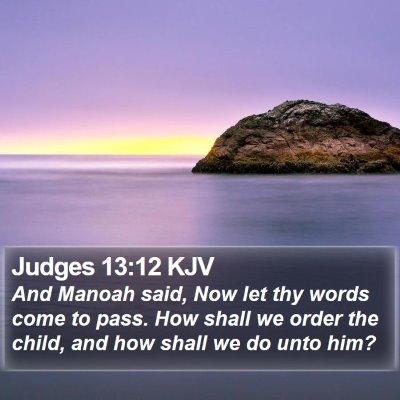 Judges 13:12 KJV Bible Verse Image